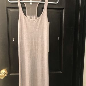 Grey long fitted dress